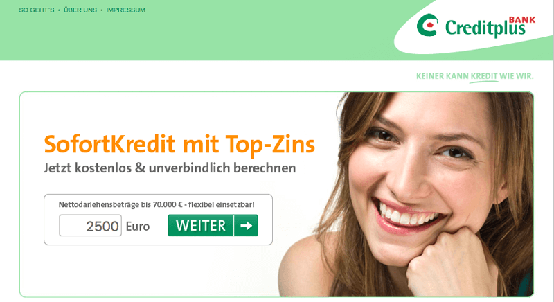 creditplus screen