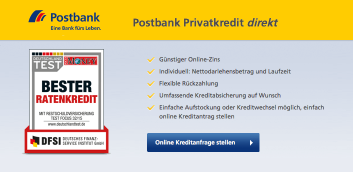 postbank screen