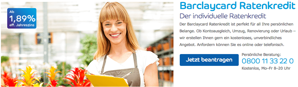 barclaycard ratenkredit