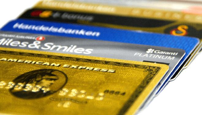 Kreditkarten Reihe