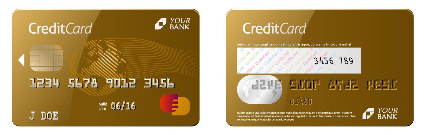 Kreditkarte Muster